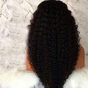 Long Free Part Afro Fluffy Curly Lace Front Synthetic Wig -