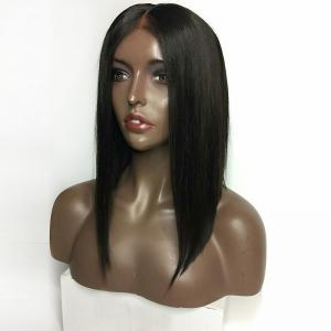 Middle Part Medium Straight Inverted Bob Lace Front Synthetic Wig -