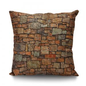 Natural Brick Print Cushion Cover Pillowcase