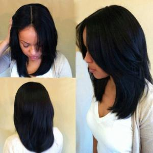 Middle Part Long Natural Straight Synthetic Wig