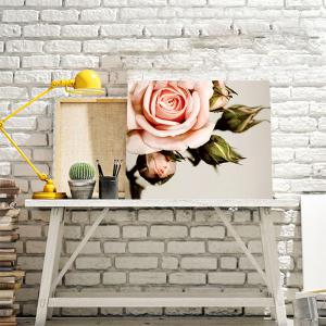 Blooming Rose DIY Resin Diamond Paperboard Painting - Pink