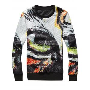 3D Eye Splatter Paint Rhombus Embossing Sweatshirt