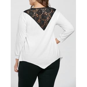 Plus Size Crew Neck Lace Trim Sweatshirt