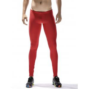 Side Side Block Stripe Quick Dry Stretchy Gym Pants - Rouge L