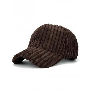 Faux Fur Winter Warm Striped Baseball Cap