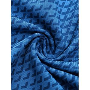 3D Geometric Print Quick Dry Fitted Gym Shorts - BLUE XL