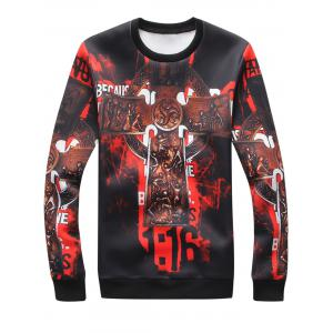 3D Cross Graphic Print Sweatshirt