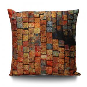 Vintage Brick Print Decorative Pillow Cover - Brick-red - 55*55cm