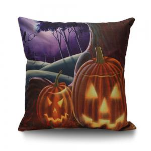 Halloween Pumpkins Decorative Linen Sofa Pillowcase