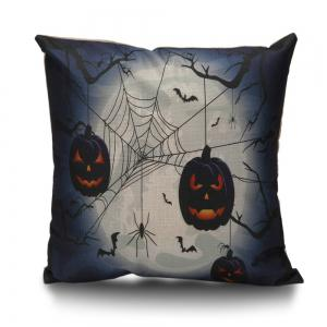 Halloween Spider Pumpkin Decorative Linen Sofa Pillowcase