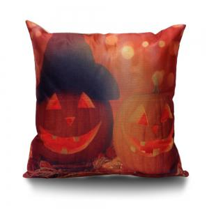Halloween Pumpkin Decorative Linen Sofa Pillowcase