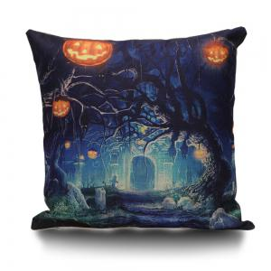 Halloween Trees Pumpkin Decorative Linen Sofa Pillowcase