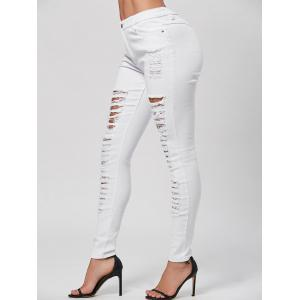 Distressed Pencil Skinny Jeans