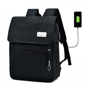 Zippers Canvas Double Pocket Backpack - Black - 40