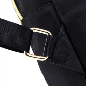Nylon Top Handle Stitching Backpack - BLACK