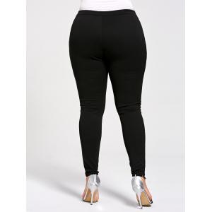 Leggings Skiny à Lacets Grande Taille -