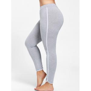 Single Stripe Plus Size Skinny Leggings