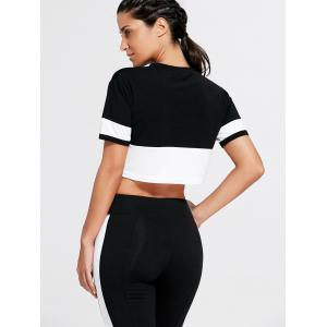 Weekkeep Graphic Sports Crop T-shirt - Noir S