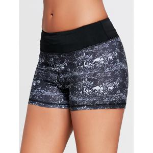Mini Tie Dye Running Shorts - Noir S