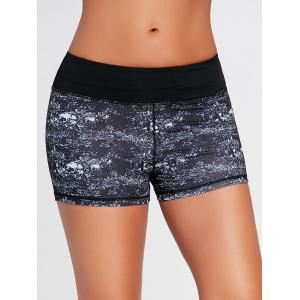 Mini Tie Dye Running Shorts - BLACK M