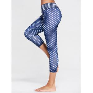 High Waist Patterned Capri Funny Gym Leggings