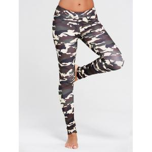Camo Pattern Running Leggings