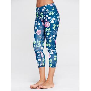 Rose Floral Print Sports Leggings -