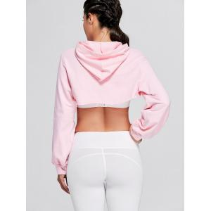 Drop Shoulder Sports Supper Crop Hoodie -