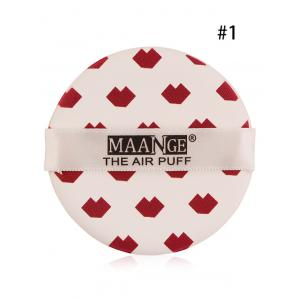 Portable Different Pattern Round Powder Puff with Box