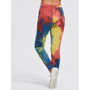 Colorful Splash-ink Print Jogger Pants -