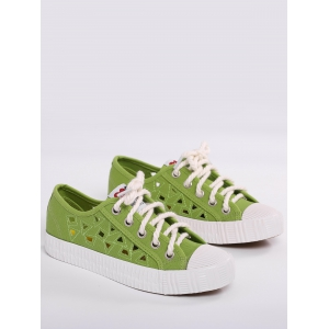 Hollow Out Canvas Athletic Shoes -