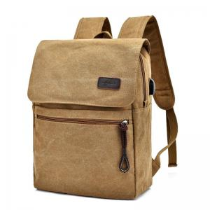 Zippers Canvas Double Pocket Backpack -