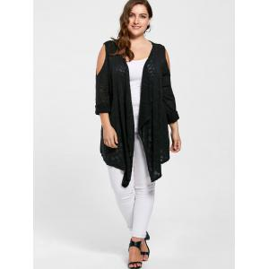 Cardigan Épaules Ouvertes Grande Taille -