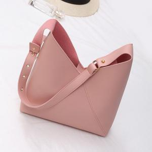 PU Leather Two Pieces Shoulder Bag Set -