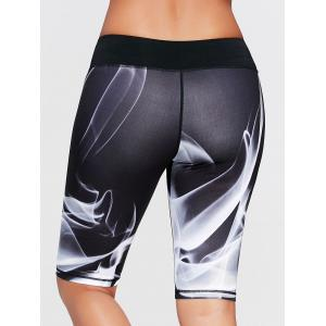 Sports Lights Pattern Bermuda  Leggings -