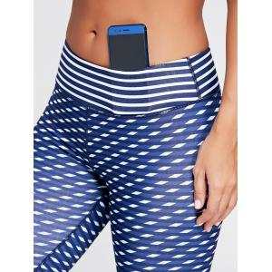 High Waist Patterned Capri Funny Gym Leggings -