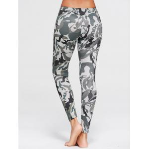 Leggings en forme de patte Camo -