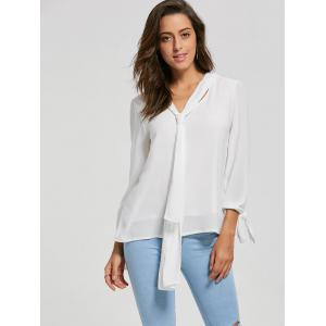 Chiffon Blouse with Optional Tie -