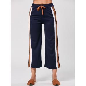 Casual Double Stried Drawstring Pants -