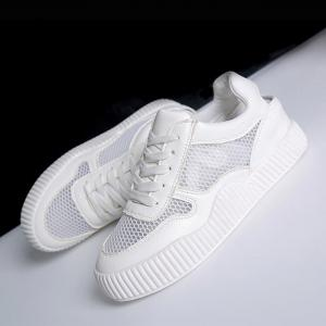 Round Toe Breathable Hollow Out Sneakers -