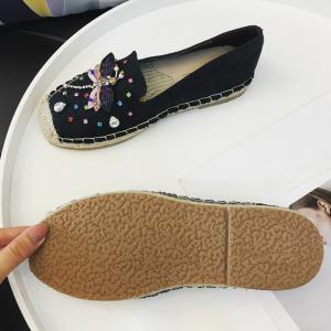 Dragonfly Rhinestone Espadrille Slip On Shoes -