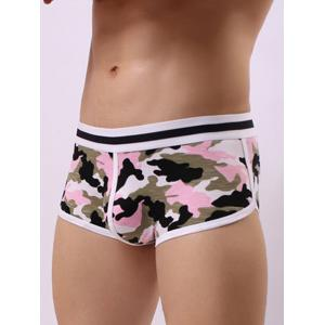 Convex Pouch Color Block Camouflage Trunk -