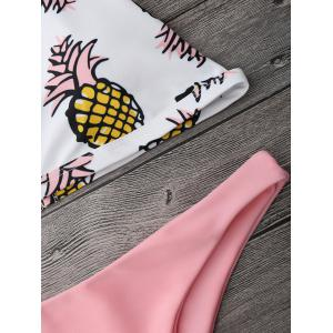 Pineapple Print High Cut Bikini Set -
