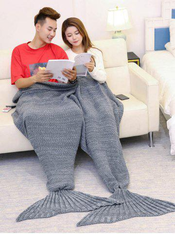 Super Soft Knitted Mermaid Blanket For Lovers Gris 180*155CM