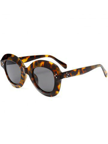 Store Ombre Wide Frame Street Snap Sunglasses BLACK LEOPARD PRINT