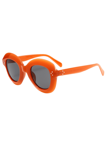 Outfits Ombre Wide Frame Street Snap Sunglasses - CLARET  Mobile