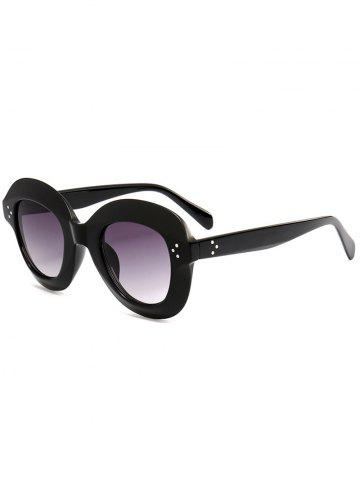 Best Ombre Wide Frame Street Snap Sunglasses - BLACK  Mobile