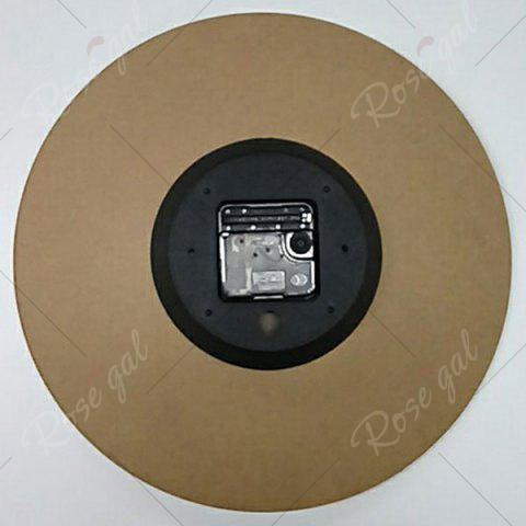 Discount Flower Round Analog Wood Wall Clock - BROWN  Mobile