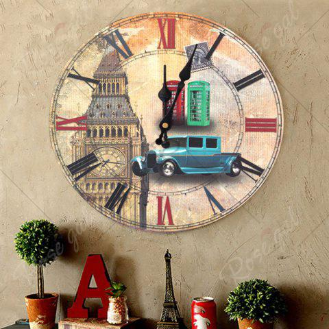Buy Big Ben Analog Wood Round Wall Clock - LIGHT BROWN  Mobile