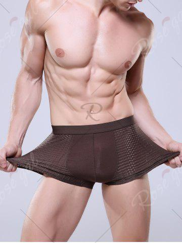 Shop Openwork U Convex Pouch Boxer Brief - 3XL COFFEE Mobile